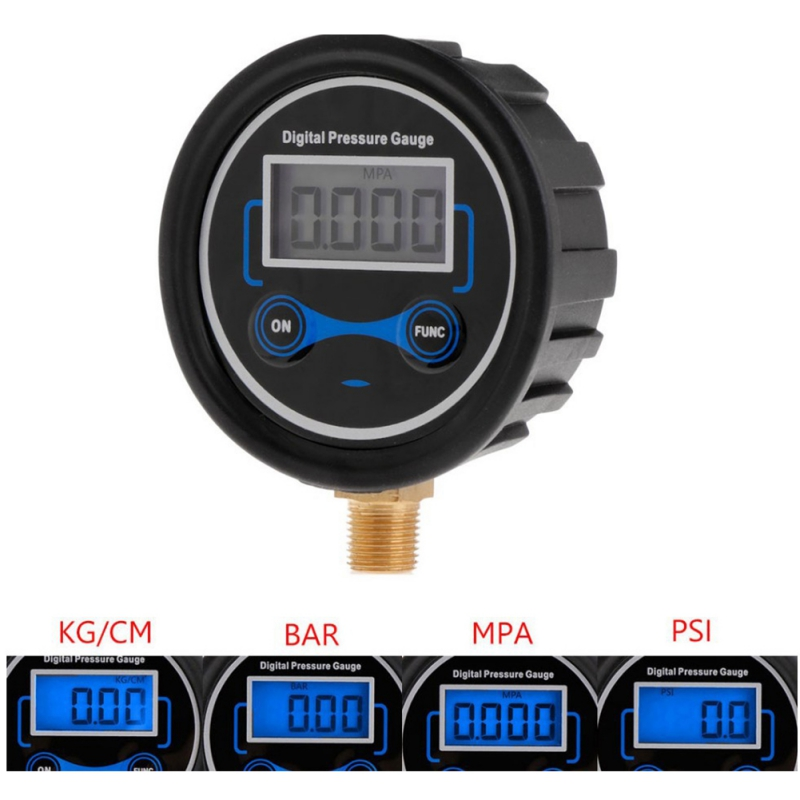 LCD Digital Tire Pressure Gauge Car Auto Motorcycle Tyre Air PSI Meter 1/8  New