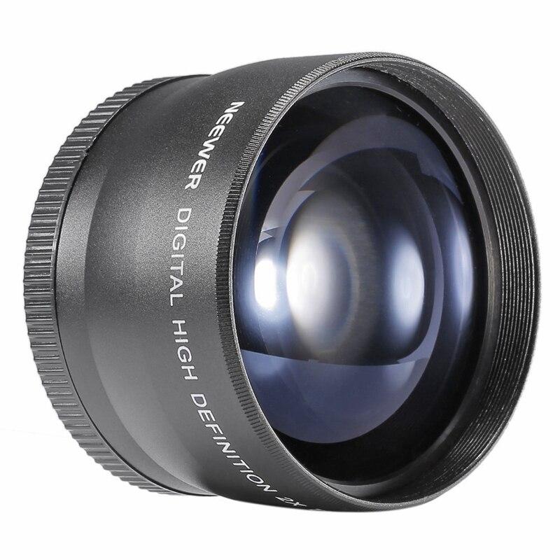 Телеобъектив 58 мм 2X преобразователь телеобъектива для Canon Nikon Sony Pentax 18-55 мм