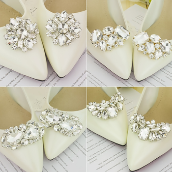 2pcs Shoe Clip Wedding Shoes Decoration DIY Clothing Women High Heels Buckle Clips Rhinestone Fashion Decorative 5 Types image