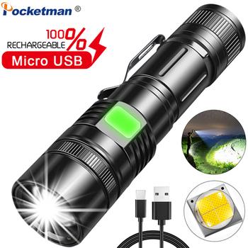 8000LM klips na długopis latarka USB ładowalna latarka latarka taktyczna XHP70 latarka LED latarka z zoomem wykorzystanie 18650 baterii tanie i dobre opinie POCKETMAN CN (pochodzenie) Odporny na wstrząsy Samoobrona Twarde Światło Regulowany AK70 17 27 200-500 m 2-4 plików