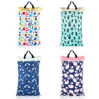 HappyFlute Polyester PUL Wasserdichte Baby Taschen für Mama Baby Kinderwagen Verwenden 40*70cm Große Größe Doppel Packet Windel wet Bag