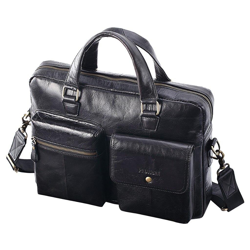 Men Bag Leather Men's Briefcase Messenger Bag Men's Leather Laptop Bag For Men Office Bags For Men Briefcase Handbags