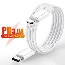 1m 18w pd cabo de carregamento rápido cabo de dados usb para o iphone x xr xs max 11 12 pro max 8 mais tipo-c à iluminação rápida carregador cabos
