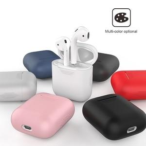 Image 5 - 1 шт. силиконовые Bluetooth беспроводные наушники чехол для AirPods наушники Чехлы для Apple для AirPods зарядная коробка без наушников