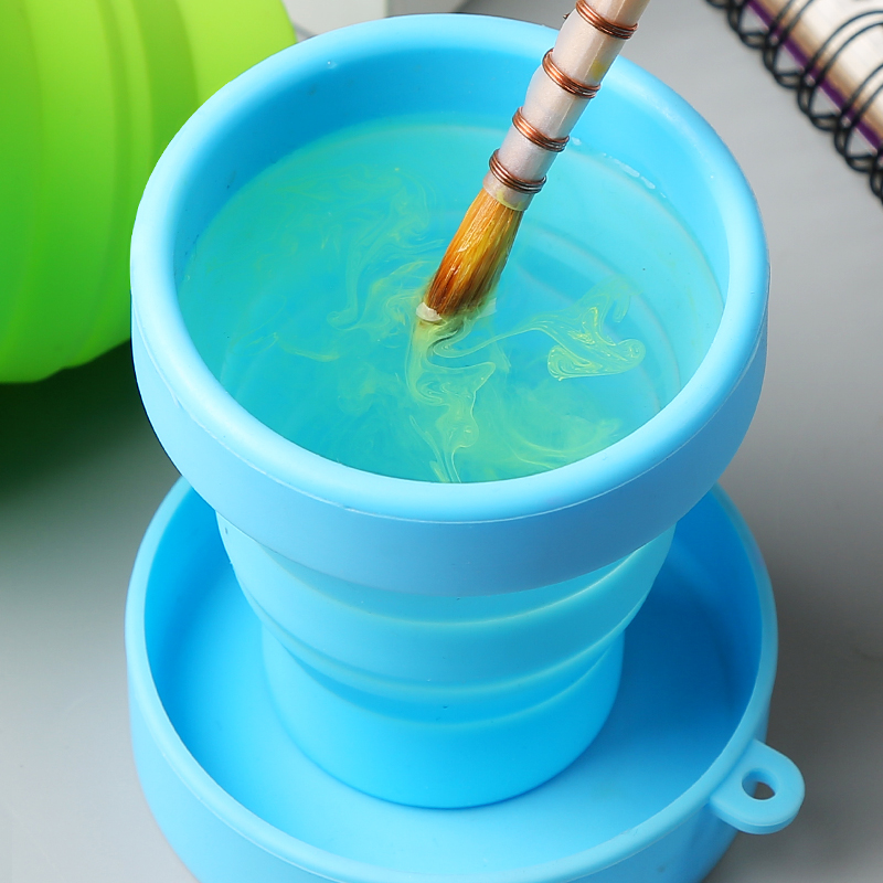 Bgln Collapsible Silicone Wash Pen Art Paint Watercolor Paint Painting Wash Bucket Bucket Watercolor Bucket  Art Supplies