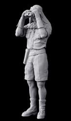 1/18 resina modelo de construção kit figura exército britânico