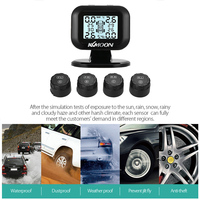 KKmoon Solar TPMS Car Tire Pressure Alarm Monitor System Display Intelligent Temperature Warning Fuel Save with 4 Sensors tpms
