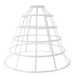 Image 2 - Womens Hollow Out Caged 5 Hoop Bustle Victorian Petticoat Skirt Wedding Bridal Dress Cosplay Pannier Crinoline Underskirt Slip