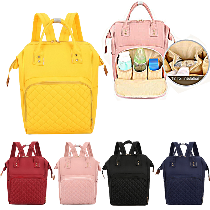 2020 Casual Fashion Mummy Backpack Maternity Nappy Bag  Large Capacity Baby Bag Mom Travel Backpack Nursing Bag For Baby Care
