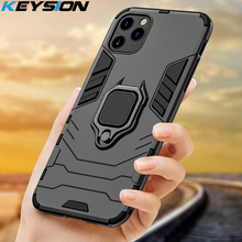 KEYSION Shockproof Armor Case For iPhone 11 Pro 11 Pro Max Phone Back Cover for Apple iPhone 11 SE 2020 Xs Max 5 6S 7 8 Plus XR
