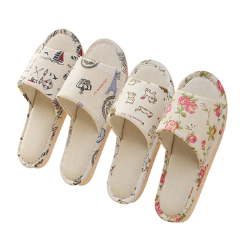 Womens Casual Floral Slippers