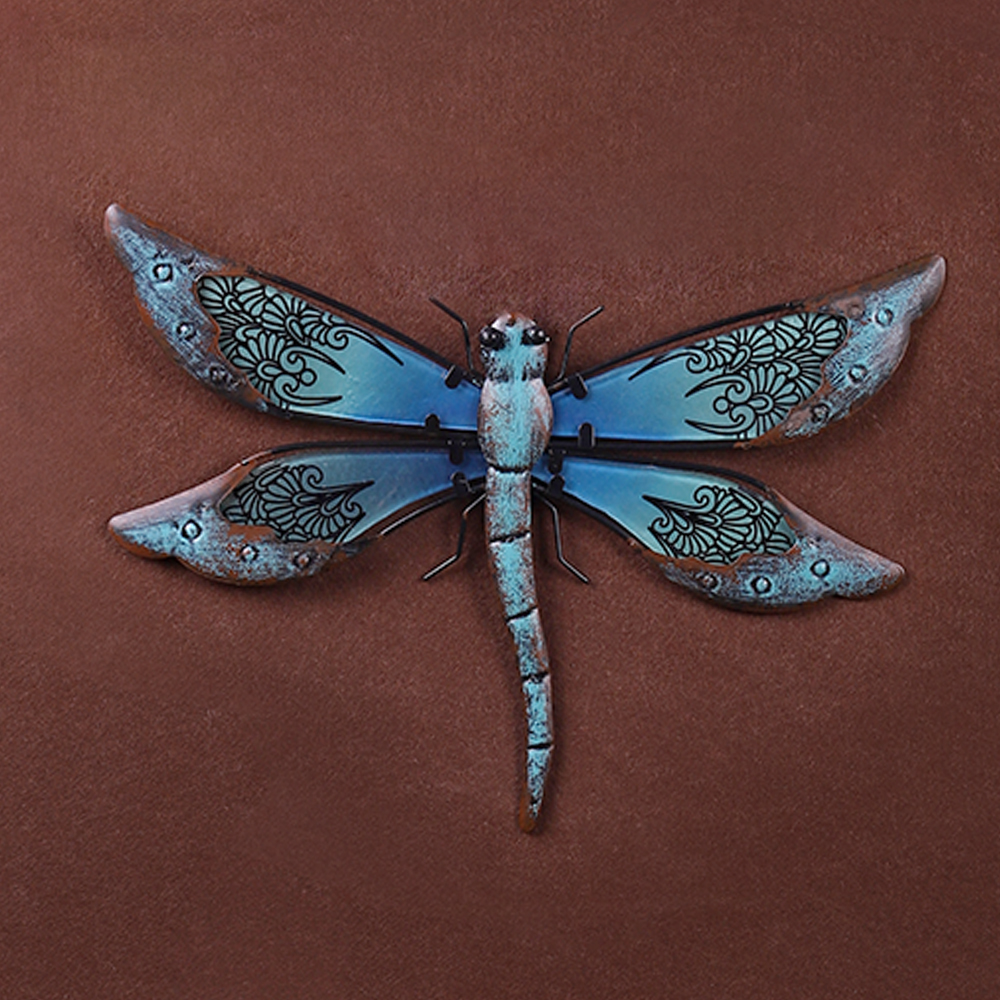 Liffy Metal Dragonfly Wall Art for Garden Decoration Outdoor Animal Miniature Statues and Sculptures for Yard Decoration in Garden Statues Sculptures from Home Garden