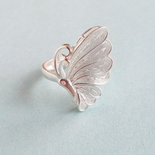 Butterfly 999 Sterling Silver Rings For Women Big Boho Ring Engagement Adjustable Handmade Luxury Jewelry Vintage Miao