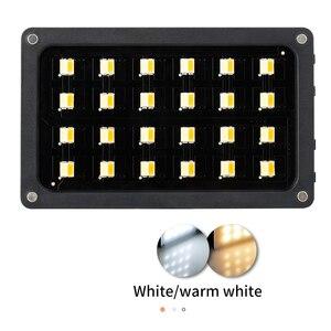 Image 3 - RB08/RB08P Ultra ince kısılabilir LED Video ışığı LED ekran pil ile kamera DSLR fotoğraf aydınlatma dolgu işığı