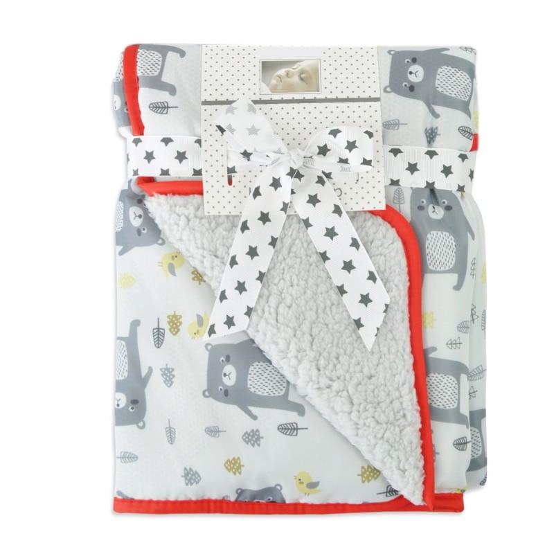 73*83 см детское многофункциональное зимнее теплое портативное одеяло с мультяшным рисунком, непромокаемое ветрозащитное одеяло для коляски - Цвет: B