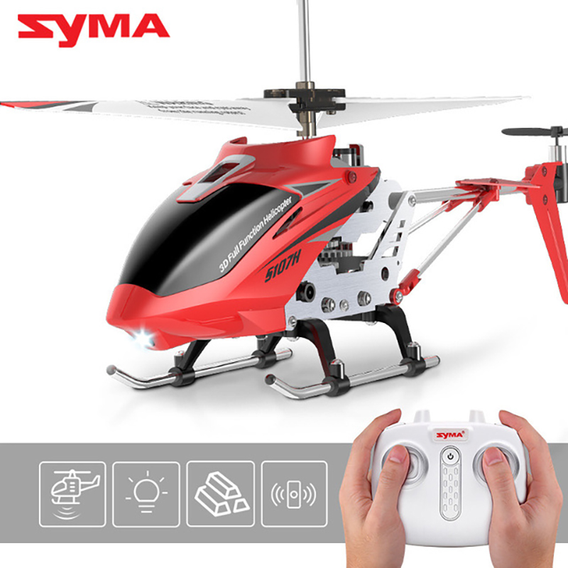 New Arrival Original SYMA S107H Mini <font><b>Micro</b></font> Gyro Electric 3.5CH Alloy Fuselage 2.4Ghz Remote Control RC Helicopter Best Gift Toys image