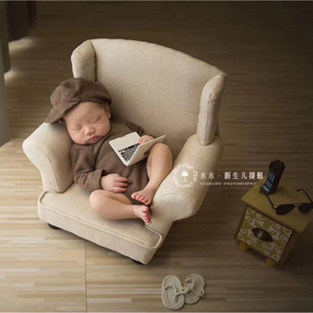 Dvotinst Newborn Photography Props for Baby Posing Sofa Mini Arm Chair Poser Pillow Accessories Studio Shoots Infant Photo Props