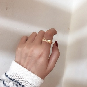 MENGJIQIAO 2020 New Punk Fashion Irregular Matte Metal Twist Rings For Women Students Mid Finger Knuckle Rings Party Jewelry