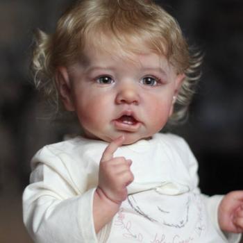22 calowy zestaw części ciała do lalek Reborn realistyczne dziecko Saskia słodka twarz realistyczne niemowlę lalki zestawy DIY niepomalowane lalki zabawki Drop Shipping tanie i dobre opinie 25-36m 4-6y 7-12y 12 + y 18 + CN (pochodzenie) Dıy Toy Baby dolls Winylu Produkty na stanie Unisex