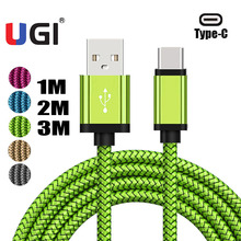 UGI 1m/2m/3m 3~10ft USB C Charger Type-C to Data Sync Charging Braided Cable For Samsung S9 S10 HUAWEI P30 Tablet Lot