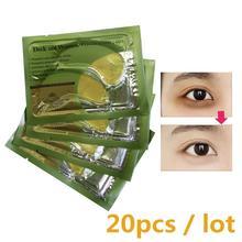 20 шт/10 пар коллагеновые маски для кожи вокруг глаз