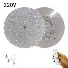 40 w 120 w ac220v branco fresco/branco quente remoto redondo placa de alumínio magnético led luz de teto painel de placa circular tubo luz
