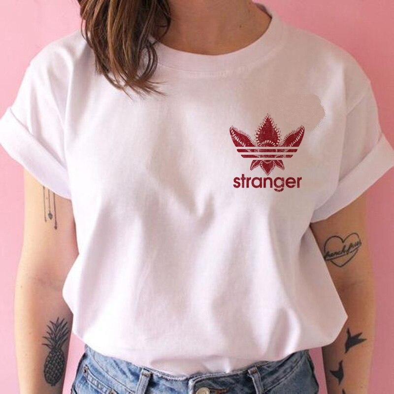 Nieznajomego rzeczy T koszula kobiety 3 jedenaście Tshirt graficzne ubrania kobiet do góry nogami koszulka femme grunge tee shirty męskie śmieszne koszulki z krótkim rękawem 6