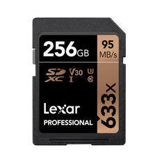 Lexar Professional SDXC 633x UHS-I cartes SD 128 GB 256 GB carte mémoire 95 mo/s haute vitesse carte SD puissante