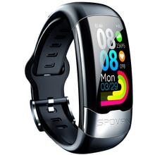 FFYY Spovan Ecg Sports Smart Bracelet Usb Fashion Heart Rate Detection Wristband for Fitness Healthy Blood Pressure Blood Oxygen
