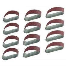 12Pcs/Set Grinding Sanding Belts 40/80/120 Grit Aluminum Oxide 533 X 75Mm for Sander Polishing Replacement Machine Abrasive Tool