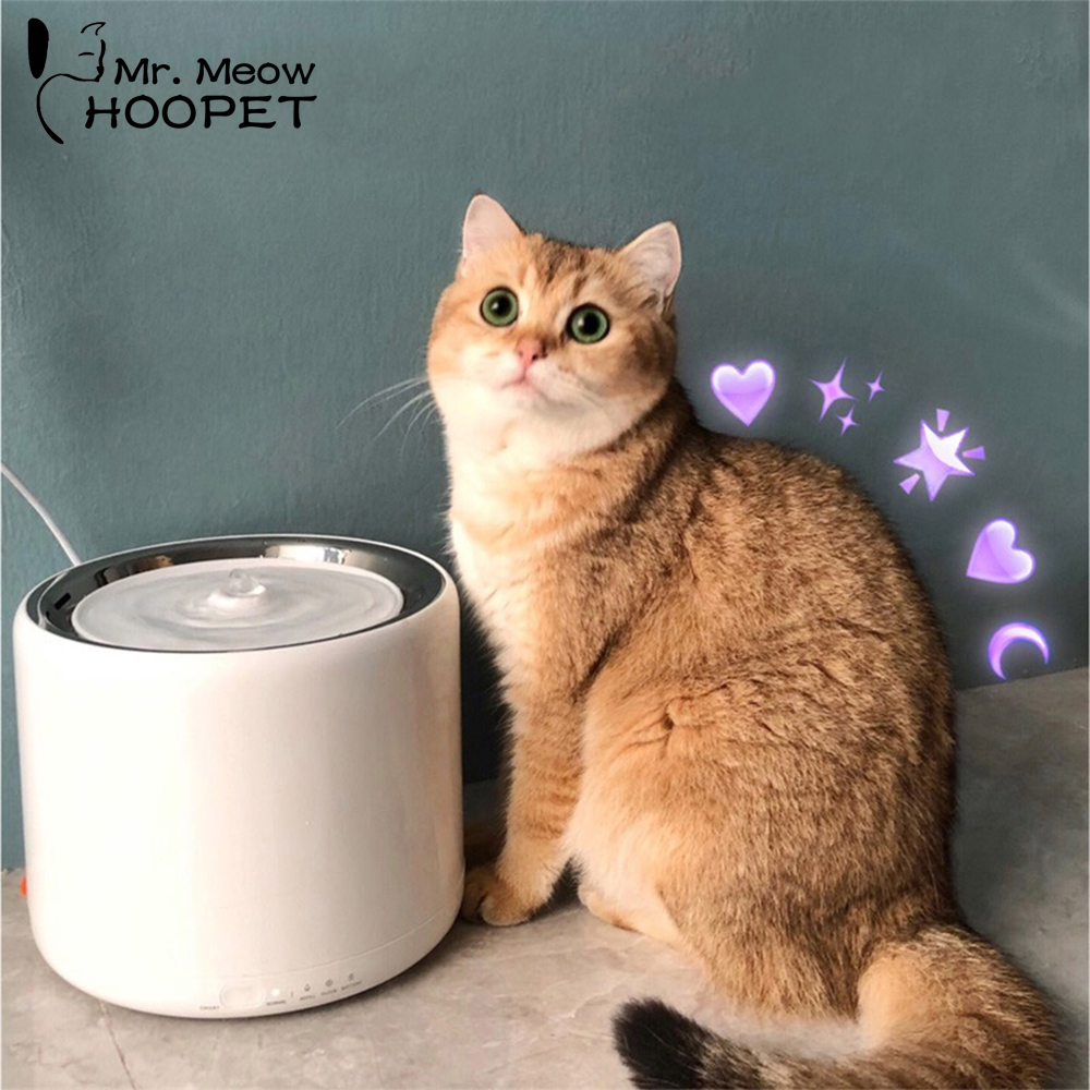 Hoopet Automatic Pets Water Fountain for Cats Fountain Dogs Electric Water Dispenser Drinking Bowls for Cats