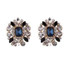Stud Earrings for Women CZ Crystal Korean Earring Vintage Earings Fashion Jewelry Gold Tone недорого
