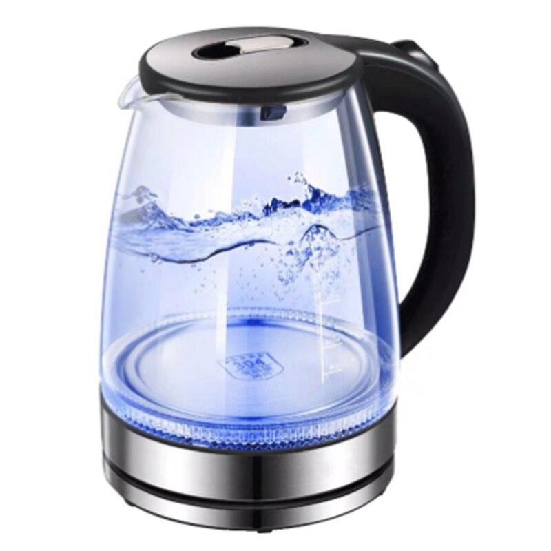 Ev Aletleri'ten Elektrikli Ketıllar'de Cam elektrikli su ısıtıcısı otomatik olarak otomatik güç kapalı paslanmaz çelik Anti sıcak elektrikli su ısıtıcısı ev mutfak aletleri ab title=