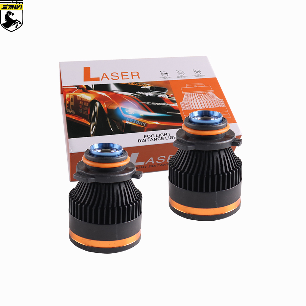 SANVI New Arrival 12W H7 H11 HB3 Hb4 9005 9006 Laser Headlight Bulb  Laser Headlight Bulb For Fog Light High Beam Spot Light