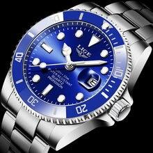 Часы наручные lige мужские спортивные брендовые Роскошные водонепроницаемые
