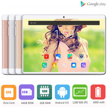 Hot Sale 2019 New 10 inch tablet PC 3G 4G LTE Android 9.0 Octa Core 6GB RAM 64GB ROM WiFi GPS 10.1 IPS 1280*800+Gifts(China)