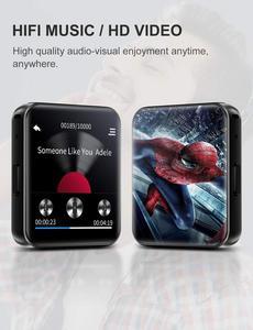 Image 4 - חדש BENJIE Bluetooth MP3 נגן מוסיקה נגן מגע מסך HiFi מתכת נגן עם FM רדיו, קול שיא מיני ווקמן ספורט