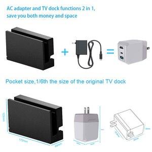 Image 4 - Besegad 2 in 1 AC adaptörü şarj TV Dock C tipi kablo ile nintendo anahtarı NS Lite akıllı telefonlar to doğrudan döküm ekran