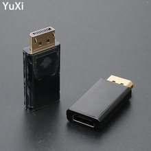 цена на YuXi DisplayPort to HDMI Converter Display Port DP to HDMI Female HDTV Cable Adapter Video Audio Connector For PC TV Projector