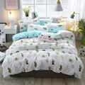 Комплект постельного белья с зеленым КАКТУСОМ  двуспальный комплект постельного белья для домашнего использования с растениями  Комплект ...