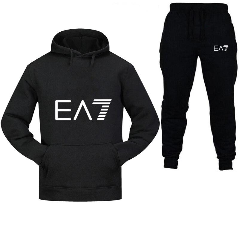 2019 Brand Sportswear Fashion Men's Sportswear Two-piece Cotton Hoodie + Pants Sports Suit Jacket Men And Women Hoodie Sweatpant