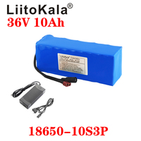 Liitokala 36V 10Ah 500W High Power En Capaciteit 42 18650 Lithium Accu Ebike Elektrische Auto Fietsen Motor scooter Met Bms