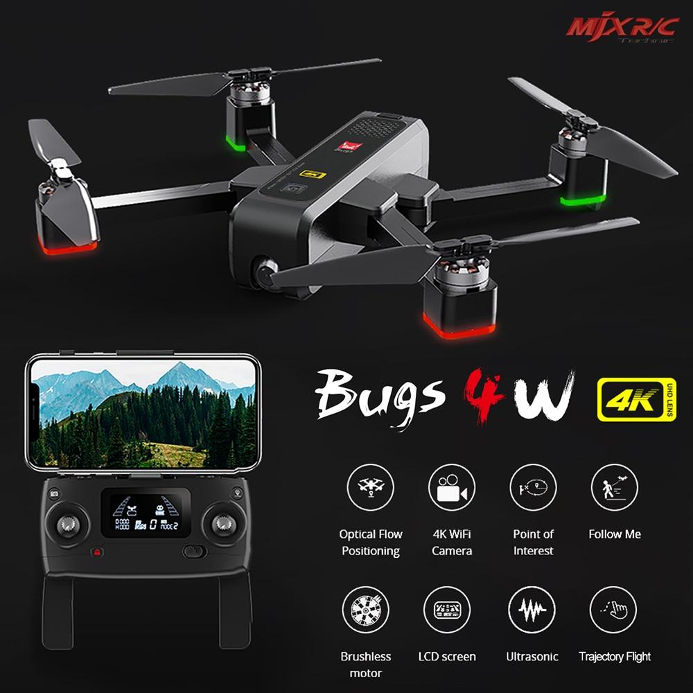 MJX Bugs 4W B4W Remote Control Drone 4K 5G WiFI HD Camera Quadcopter Foldable