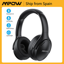 Mpow-auriculares inalámbricos H19 IPO ANC con Bluetooth 5,0, cascos suaves de 35h de tiempo de reproducción con micrófono CVC 8,0 para iPhone 11, X, Huawei y Xiaomi