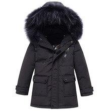 Jackets Coats Outerwear White-Duck-Down Baby-Boys Winter Kids Children for Print Thicken