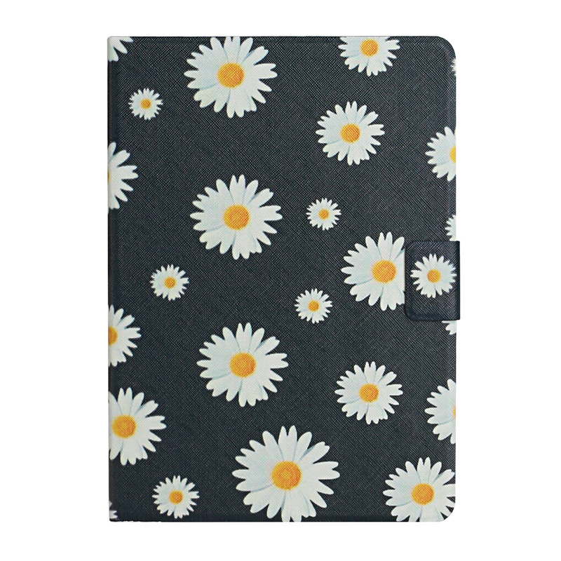 daisy White Case for iPad 7th Generation Case Flower Painted Cover Funda for Apple iPad 10 2 2019
