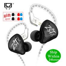 Novo kz zst x 1ba 1dd híbrido de alta fidelidade no ouvido fones baixo earbud esporte cancelamento ruído fone de ouvido kz zstx zsn x zs10 es4 v80 c12