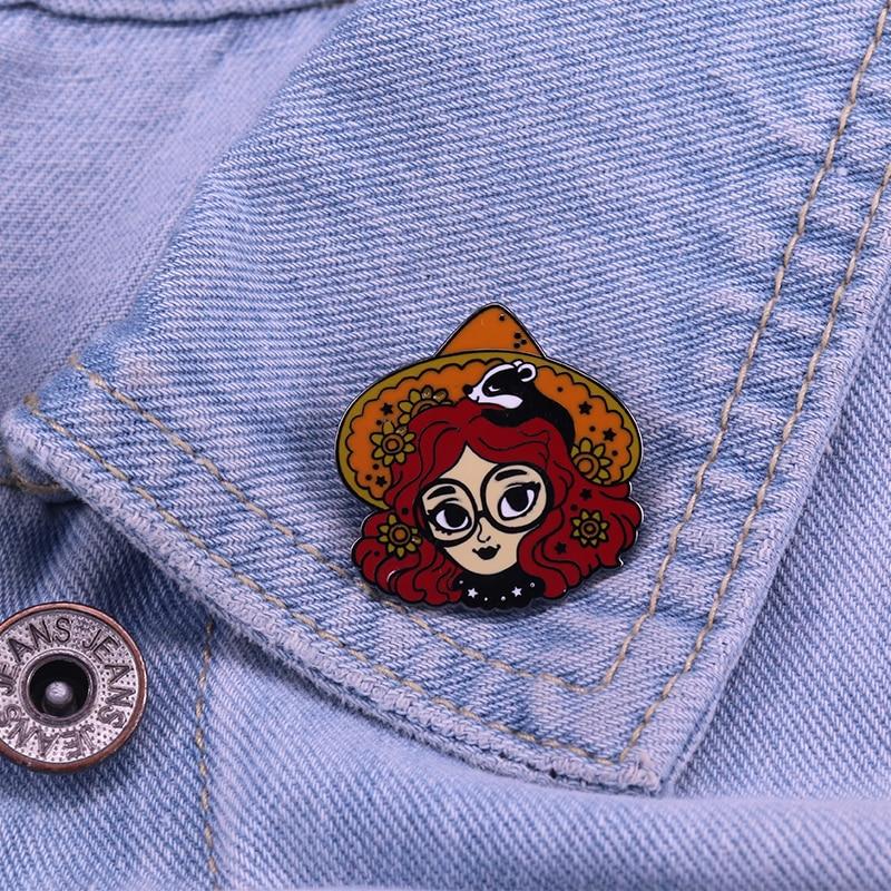 Garden Witch Enamel Pin