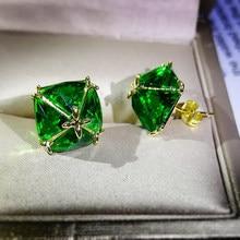 JUWANG 2021 INS orecchini di lusso in oro 18 carati riempiti per le donne Pendientes AAA zirconi cubici orecchini gioielli di moda Kolczyki