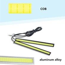 цена на 10pcs 17cm Universal Daytime Running Light COB Lamp beads DRL LED Car Lamp External Lights Auto Waterproof Car Styling DRL Lamp
